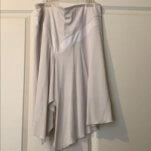 Winter white, silky skirt from Express size L